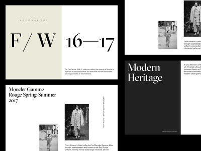 Moncler Magazine simple minimal clean modern typo typography spread mag magazine layout fashion