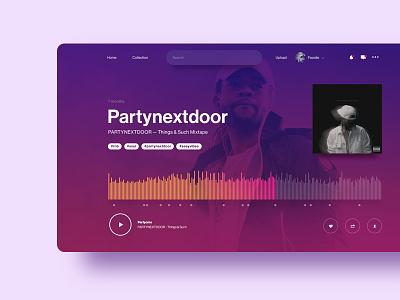 Soundcloud — Weekly UI challenge musicplayer dashboard website wave music app ux audio player challenge ui soundcloud