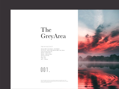 The Grey Area — Mix Series Cover layout whitespace minimalistic minimal modern clean serif typography music mix