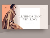 Fashion Lookbook — Header Layout
