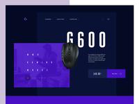 Product page — Header variation for Logitech website