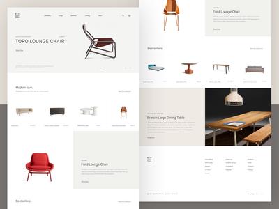 Blu Dot Website contemporary minimal modern layout grid typography clean minimalistic design furniture