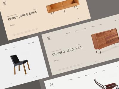 Blu Dot Furniture — Header Styles minimalistic modern minimal typography layout design slider header furniture contemporary clean