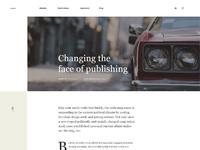 Magazine blog layout full size