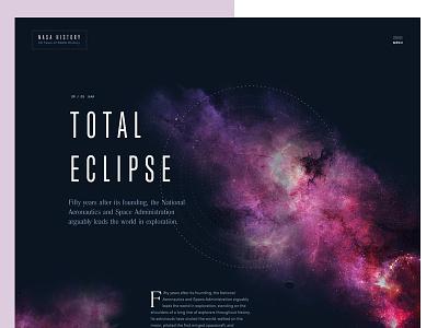 Total Eclipse sailec typo header dark condensed typography layout space