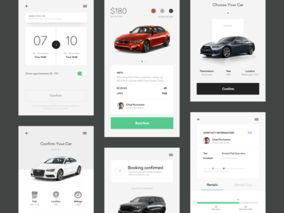 Bornfight / Projects / Car Rental Mobile App | Dribbble