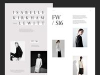 Fashion Website Layout