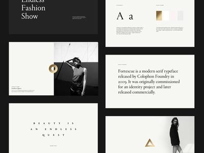 Art Direction Pitch Deck modern fashion editorial serif presentation clean layout pitch typography artdirection