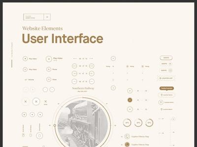 UI Website Elements ux progress close play userinterface interactive icons icon website ui
