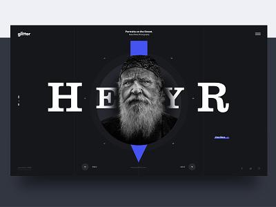 Header Style 02 fullscreen scroll clarendon typo darkui slider dark typography header