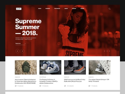 Urban Street-style Magazine whitespace magazine urban slider header typography blog portal layout fashion