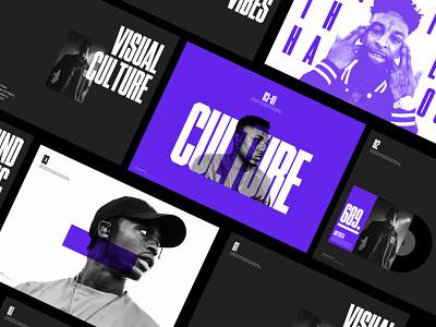 Urban Culture — Presentation Slides purple type typo urban lifestyle minimal typography design slides presentation