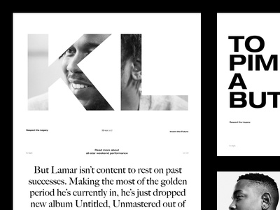 Kendrick Lamar — Makers of the Game serif sans modern clean minimal typography grid readymag layout website kendricklamar