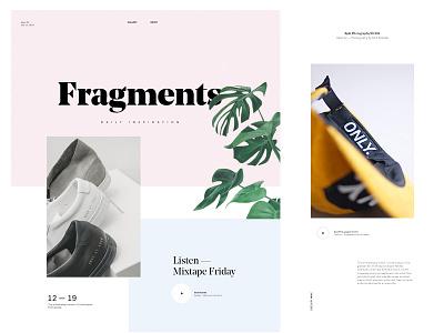 Moodboard artdirection minimal moodboard layout typography