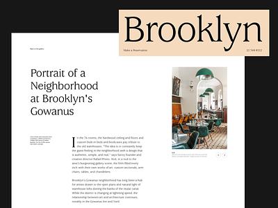 Brooklyn Restaurants restaurant branding grid layout typography website web restaurant
