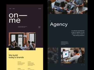 Creative Agency Website modern whitespace grid layout clean typography grid agency branding website creative agency creative