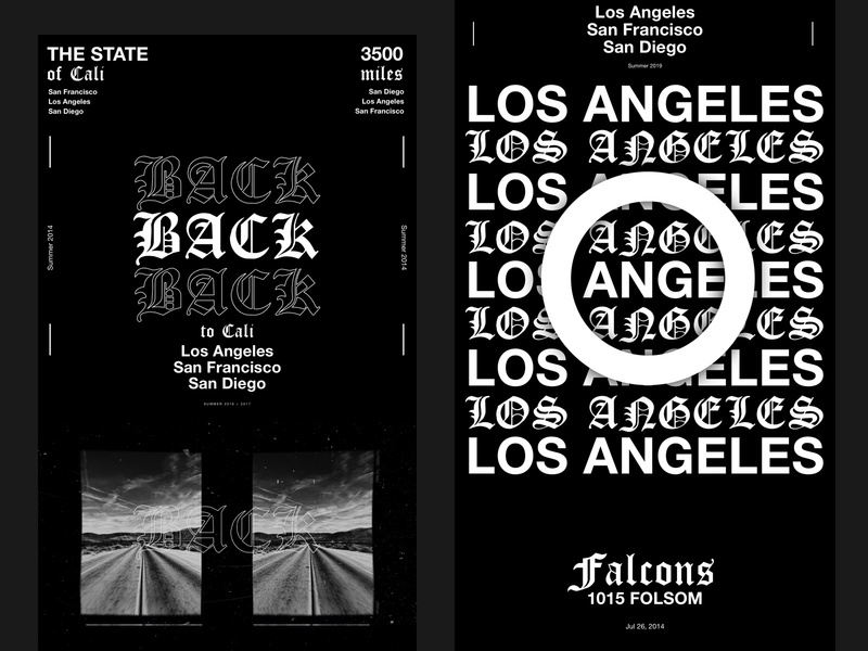 The State Of Cali graphicdesign layoutdesign graphic layout black typography