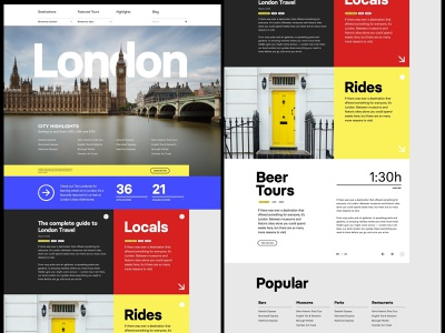 London City Guide whitespace simple header grid web design minimal website clean layout typography