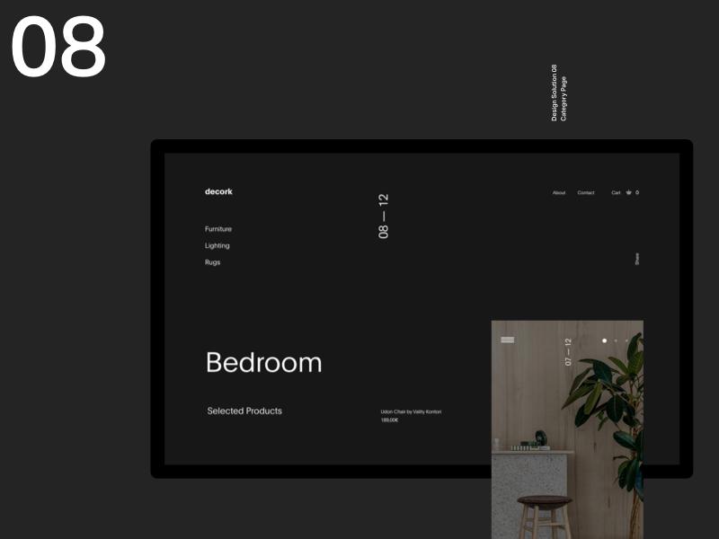 Furniture Website whitespace simple ui header grid web design minimal website clean layout typography