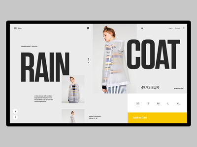 Ecommerce Layout slider whitespace grid header design minimal website layout typography