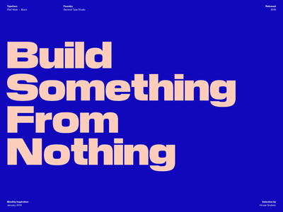 Typography Inspiration | January 2019 Font Selection color typografi font collection font typo inspiration typography