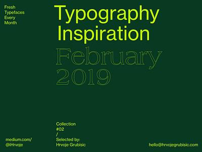 Typography Inspiration | February 2019 Font Selection typo logo sans serif sans color inspiration font awesome font collection font typography animation type typography art typography