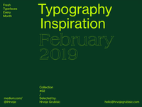 Typography Inspiration | February 2019 Font Selection