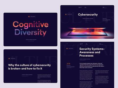 Cybersecurity Informative Website grid interactive information whitespace uidesign dark webplatform webdesign typography layout website cybersecurity