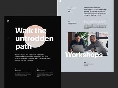 Bornfight Design Variations - Part I ux slider ui whitespace simple header web grid design minimal website clean layout typography