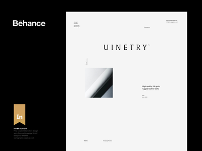 Uinetry — Featured Work on Behance typo behance white black modern ui whitespace simple header web grid design minimal website clean layout typography