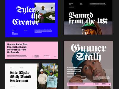 Lifestyle Magazine typo header web ui simple whitespace clean design grid website minimal layout typography