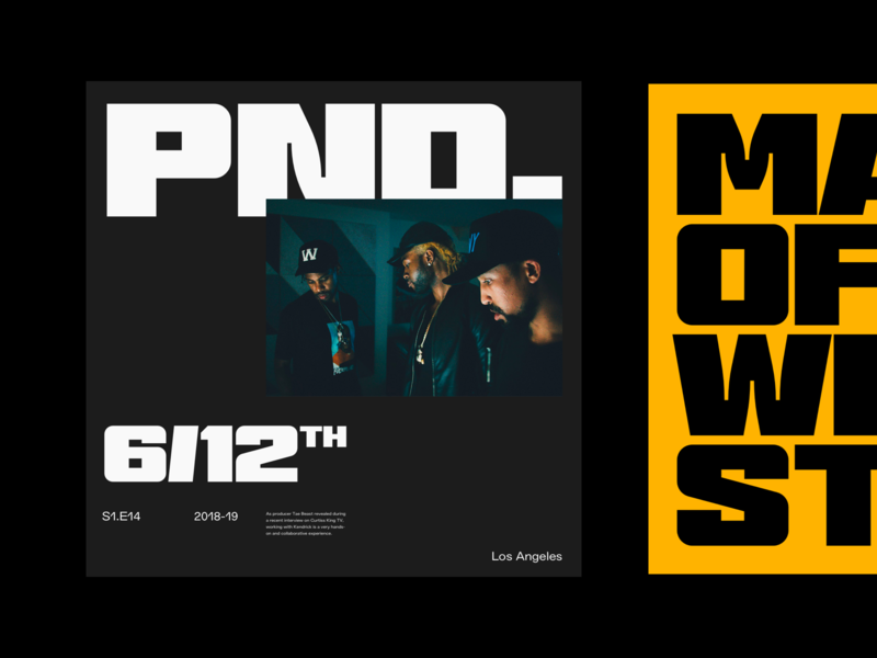 Pnd. West simple whitespace grid design minimal clean layout typography