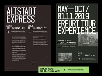 Altstadt Express headline paragraph display font display whitespace grid design minimal layout typography