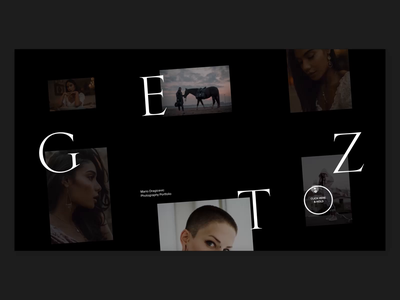 GETZ — Photography Portfolio Website photography slider interactive simple whitespace header design minimal website clean layout typography