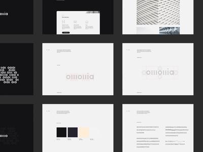 Omonia grid web modern branding brand identity brand guidelines branding whitespace design minimal website clean layout typography