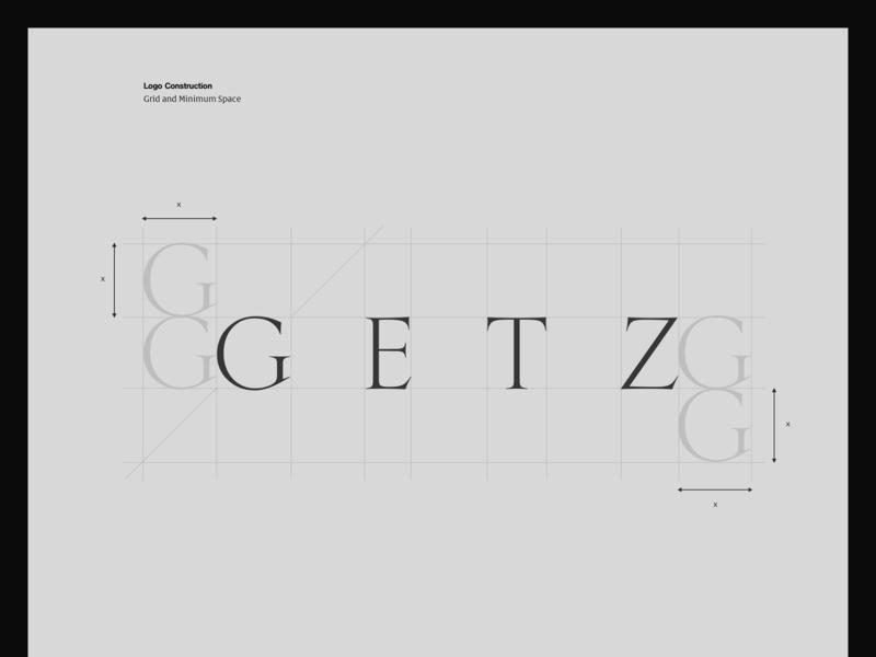 GETZ — Behance Project branding modern vector simple whitespace design logo minimal clean layout typography