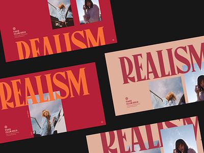 Fake Club artdirection branding bold headline typo header whitespace design minimal website clean layout typography
