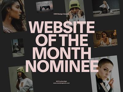 WOTM—GETZ interactive cssdesignawards award website