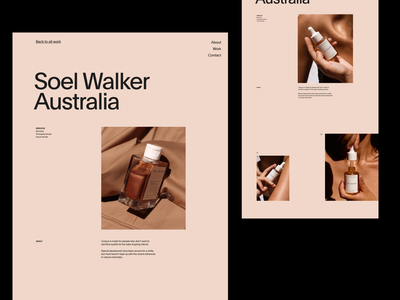 Case Study — Single Page modern simple web grid whitespace design minimal website clean layout typography
