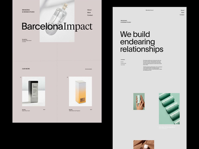 Barcelona Impact whitespace web grid design minimal website clean layout typography