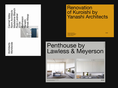 CH2 Architecture Layouts typo modern simple grid whitespace design website minimal clean layout typography