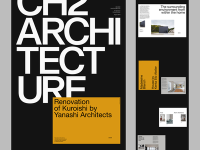 Ch2 Architecture architecture editorial simple whitespace grid design minimal clean layout typography
