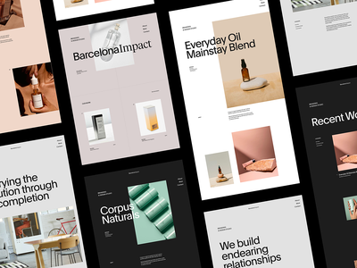 BarcelonaImpact — Branding & Design Studio simple web grid whitespace design minimal website clean layout typography