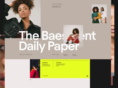 Fashion Deck simple header web whitespace design minimal website clean layout typography