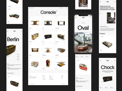 Laborati Ginori — Luxury Furniture Industry simple web whitespace grid design minimal website clean layout typography