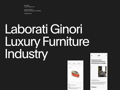 Laborati Ginori simple web whitespace grid design minimal website clean layout typography