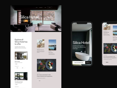 Tourism & Booking — Concept variations simple header web whitespace grid design minimal website clean layout typography