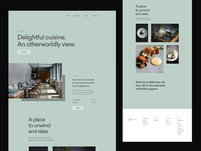 Tourism & Booking — Concept variations header web whitespace grid design minimal website clean layout typography