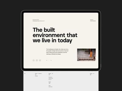 Architecture blog clean layout header web whitespace grid design minimal website typography architecture website architecture