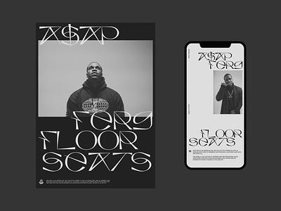 A$AP Ferg — Floor Seats modern simple whitespace grid design minimal clean layout typography